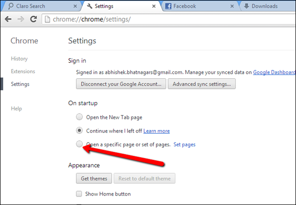 set_home_pages_in_google_chrome