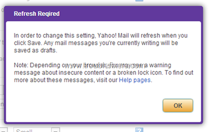 Yahoo Mail Refresh Notifications