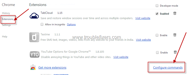 Google chrome extensions keyboard shorcuts (2)