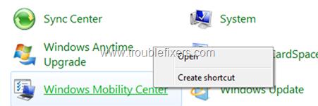 Windows Mobility Center-icon