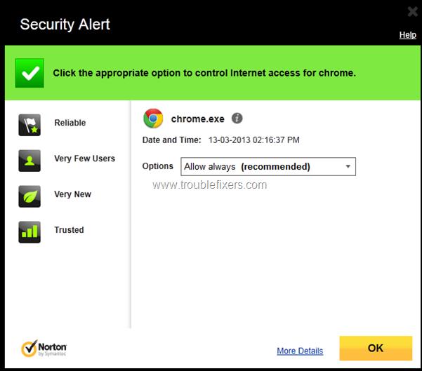 Google Chrome Add To Filewall Allowed List