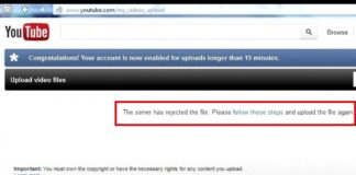 Youtube Rejected Video File Uploading