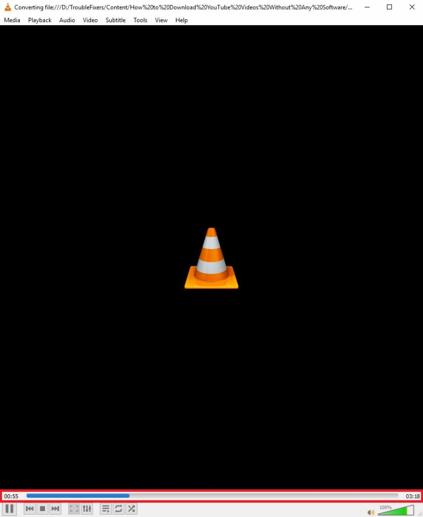 VLC conversion in progress