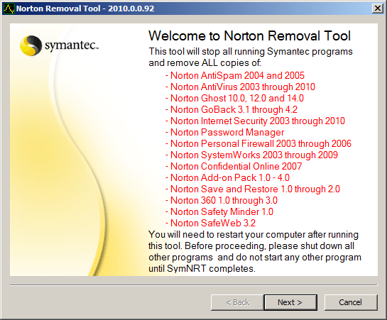 Cannot Uninstall Norton Antivirus 2010 | Unable To Remove