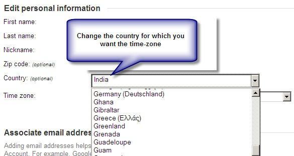 change gmail account