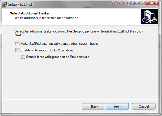 EXT2 FDS driver options