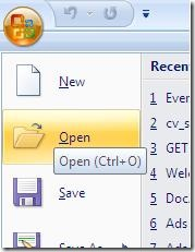 Open Microsoft Word 2007 Document