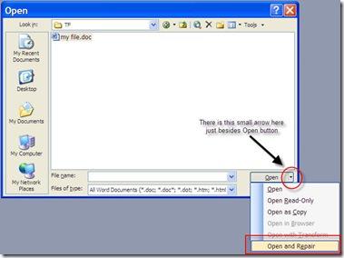 How to Repair Microsoft Word 2003 Document Repair Microsoft Word 2007 Document