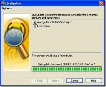 Symantec Live Update Hangs at 99% in Windows Vista - TroubleFixers
